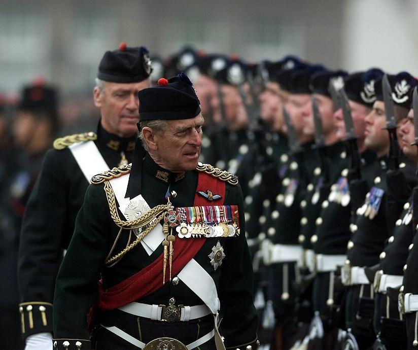 HRH The Prince Philip, Duke of Edinburgh inspects no 4 guard