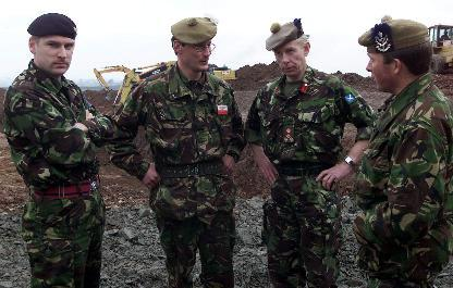 "Unit Commanders meeting at ""The Hole"""