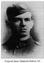Cpl James D. Pollock VC, 5th Camerons