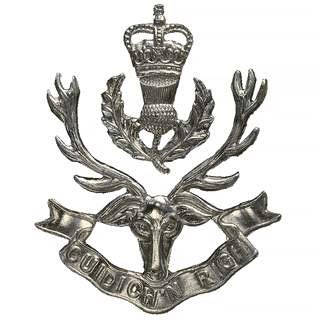 Cap Badge of The Queens Own Highlanders and now The Highlanders!