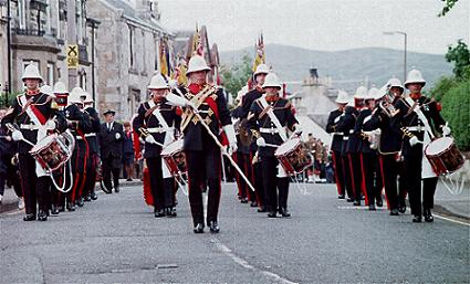Band of the Royal Marines lead the parade